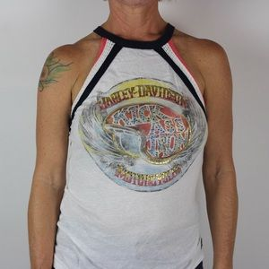 🏍 Harley Davidson Halter Neck Tank